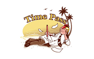 Time Pass Leisure, Travel & Tourism Logo Design