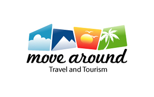 Move Around Leisure, Travel & Tourism Logo Design