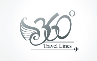 360 Travel Lines Leisure, Travel & Tourism Logo Design