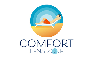 Comform Lens Zone Lens & Optics Logo Design