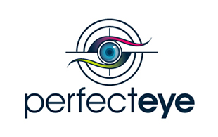Perfect Eye Lens & Optics Logo Design