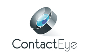 Contact Eye Lens & Optics Logo Design