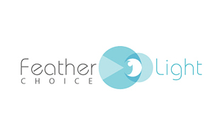 Feather Of Light Lens & Optics Logo Design