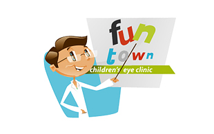 Fun Town Lens & Optics Logo Design