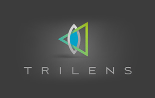 Trilens Lens & Optics Logo Design