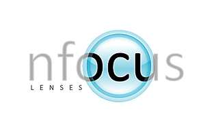 Nfocus Lenses Lens & Optics Logo Design