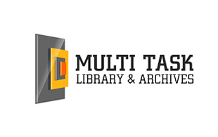 Multi Task Library & Archives Logo Design