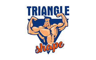 Triangle Shape Masculine Logo Design