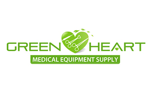Green Heart Medical Equipment & Devices Logo Design