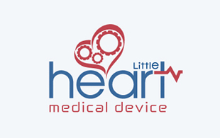 Heart Medical Device Medical Equipment & Devices Logo Design