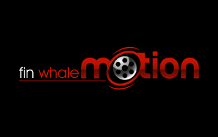 Fin Whale Motion Motion Pictures and Film Logo Design