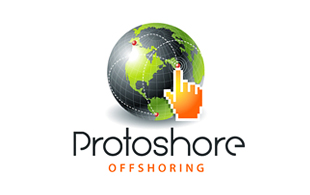 Protoshore Outsourcing & Offshoring Logo Design
