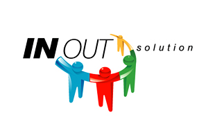In Out Solution Outsourcing & Offshoring Logo Design