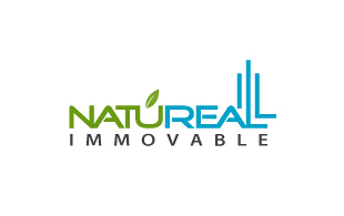 Natureal Immovable Real Estate & Construction Logo Design