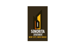 Senorita Apartment Real Estate & Construction Logo Design