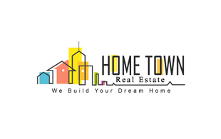 Home Town Real Estate & Construction Logo Design