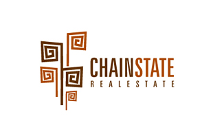 Chain State Real Estate & Construction Logo Design