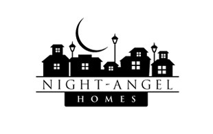 Night-Angel Homes Real Estate & Construction Logo Design