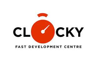 Clocky Research and Development Logo Design
