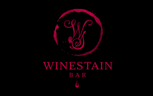 Winestain Bar Restaurant & Bar Logo Design