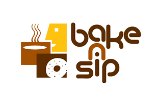 Bake N Sip Restaurant & Bar Logo Design