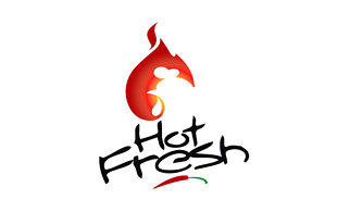 Hot Fresh Restaurant & Bar Logo Design