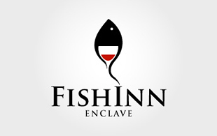 Fishinn Enclave Restaurant & Bar Logo Design