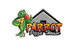 Parrot Pizza House Restaurant & Bar Logo Design