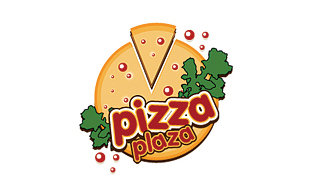 Pizza Plaza Restaurant & Bar Logo Design