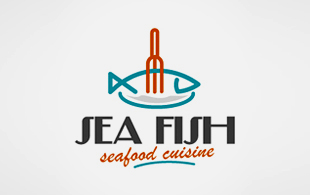 Sea Fish Restaurant & Bar Logo Design