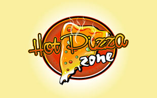 Hot Pizza Zone Restaurant & Bar Logo Design