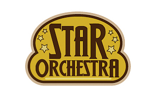 Star Orchestra Retro Logo Design