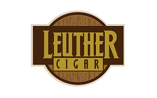 Leuther Cigar Retro Logo Design