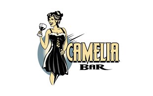 Camelia Bar Retro Logo Design