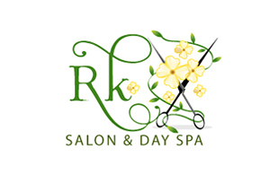 RK Salon & Dry Spa Salon & Day-Spa Logo Design
