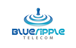 Blue Ripple Wireless & Telecommunication Logo Design