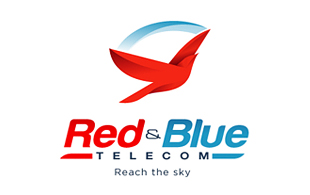 Red & Blue Wireless & Telecommunication Logo Design
