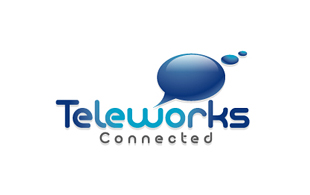 Teleworks Connected Wireless & Telecommunication Logo Design