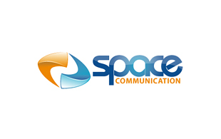 Space Communication Wireless & Telecommunication Logo Design