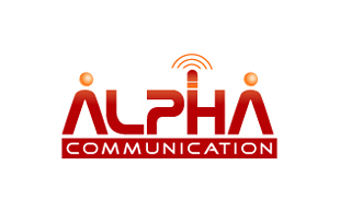 Alpha Communication Wireless & Telecommunication Logo Design